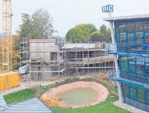 Im Süden von Coburg entsteht der Erweiterungsbau der BID-Gruppe.